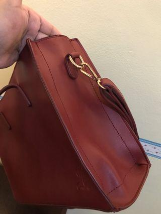 Jimshoney Red Maroon Bag