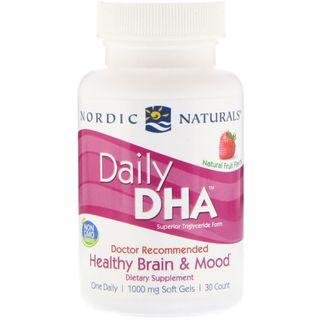 Nordic Naturals Daily DHA 草莓味, 1000 mg, 30粒
