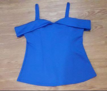 Sabrina Blue Top