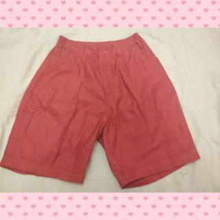 Celana Pendek merah jeans
