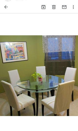 Dining Set  (5 chairs+1 round table)