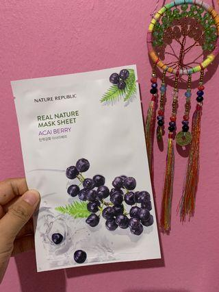 Nature Republic Mask Sheet - Acai Berry