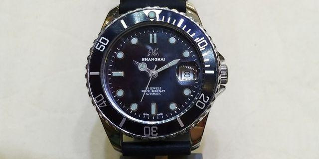 古董自動上海潛水錶