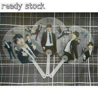 {READY STOCK}BTS Transparent Round Hand Fan