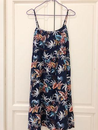 Hawaiian Navy Blue Dress