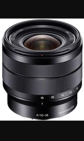 Sony 10-18 f/4 wide angle lens SELP1018