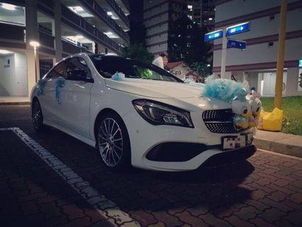 Elegant Mercedes Benz CLA180 AMG Wedding Car Rental