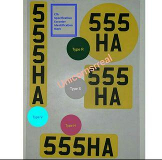 *2 for $15 *PMD Escooter license Sticker (LTA approved)