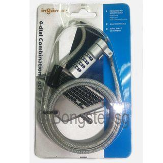 Ingamar LKCP-6633 numeric 4 digit Cable Lock For Notebook - 1.80 meter Cable