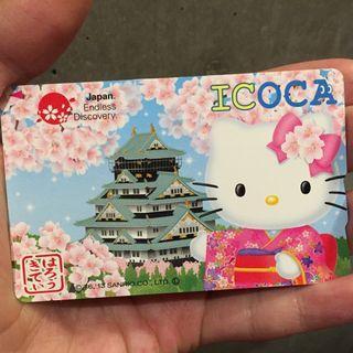 🎌Hello Kitty 大阪城🎌西日本ICOCA西瓜卡 全日本通用紀念收藏車票【RingForest 雜貨屋】