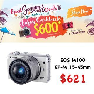 Canon EOS M100 with EF-M 15-45mm