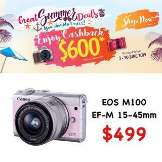 Canon EOS M100 with 15-45mm
