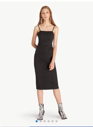 BN Pomelo midi open back black dress LBD BRAND NEW WITH TAGS