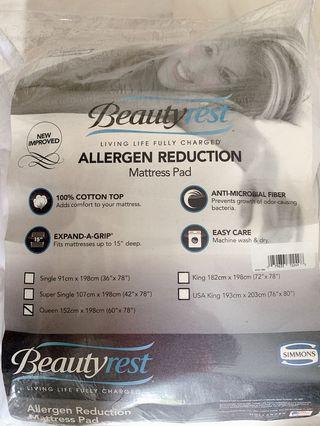 Simmons Allergen Reduction Mattress Pad - Queen