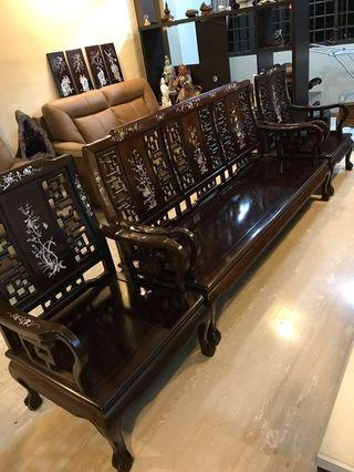 Antique Rosewood Furniture antiques vintage collectibles Wood sofa set  tables & Chairs antique cabinet chest drawers Rosewood Sofa Set antique furniture collection coffee table chairs solid wood furniture