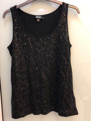 Black sequine sleeveless top. DKNY. Very good condition. Only worn once