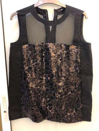 Black sequin Hugo boss sleeveless top. Very good quality and condition 9/10. Only worn once