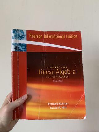 🚚 【二手書】線性代數- Elementary linear algebra with application