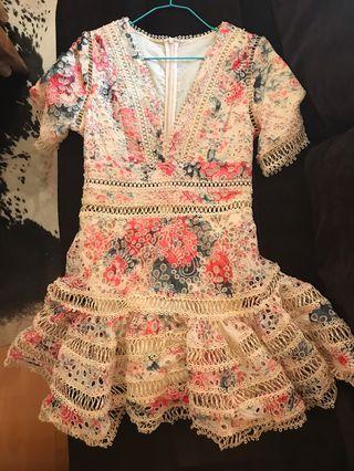 Zimmermann style Flutter Dress - Size 36