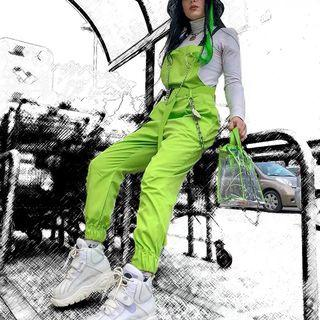 🚚 Lime Green Jumpsuit