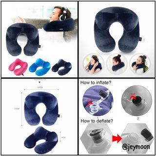 Travel Inflatable Neck Pillow Overseas Sleeping Luxury Cover