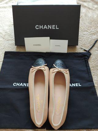 Channel Ballet Flats (Beige) 37.5 現貨實拍圖