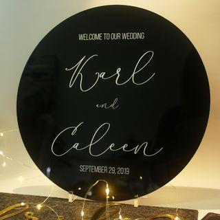 Classy Black Wedding Sign