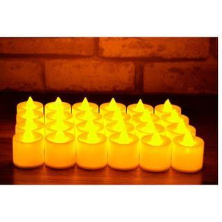 Electronic LED Candles - Warm Yellow