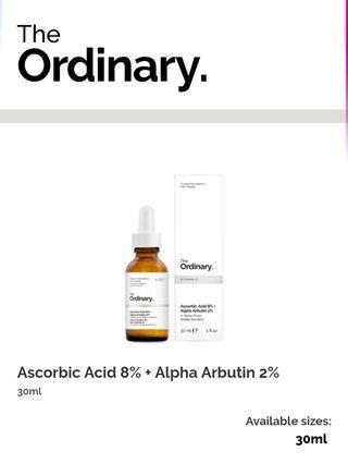🚚 The Ordinary Ascorbic Acid 8% + Alpha Arbutin 2%
