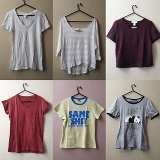 Forever 21 shirts, etc.