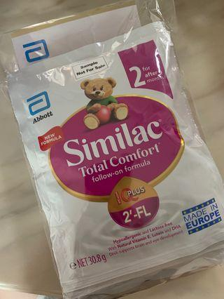 Similac Total Comfort (4 packets inside) and $5 gift voucher