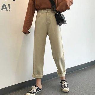 高腰直筒褲(二手