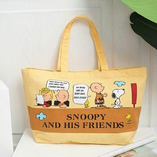 Snoopy Tote Bag with 2 Inner Compartments