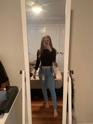 Fashionnova Booty Lifting Jeans - Light Blue