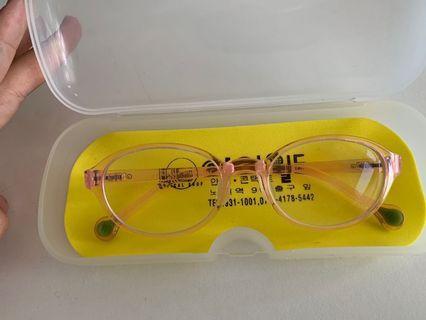 🚚 light pink flexible glasses for children
