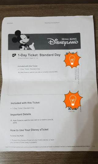 Disneyland 2 Adult E-Tickets expires on 20/6/2019