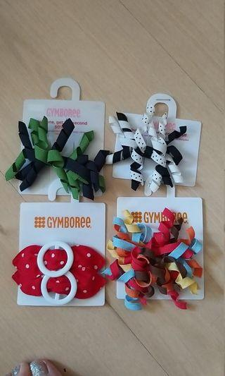 Gymboree 4 hair clips for girls (sell all)