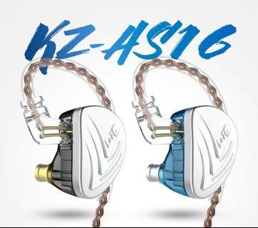 《INSTOCK》KZ AS16 (16BA) HiFi IEM with/without Mic + Foam Tips x 1 Pair + 1 Casing + 1 Month 1-1 Warranty Exchange