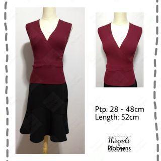 Brand new *In stock*  Dark red kimono knit top
