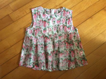 NEW 花花娃娃上衣floral top