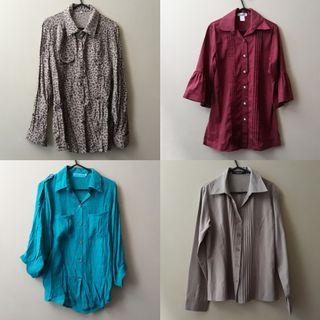 Collared long sleeved tops (used and unused)