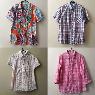 Patterned polo shirts (used and unused)