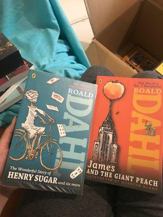 Roald Dahl's Wonderful story of Henry Sugar and six more; James and the giant peach