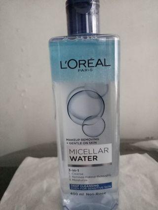 Loreal 3合1魔法卸妝水 防水彩妝專用型
