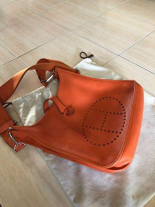 🚚 Hermes evelyne GM orange bag