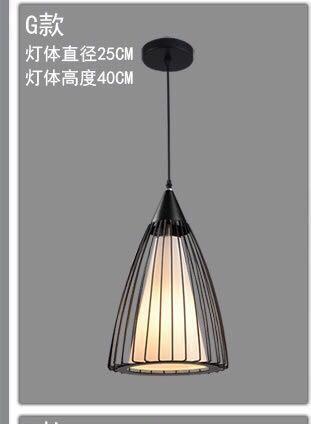 Nordic style retro iron pendant lamp #carouraya