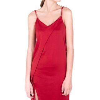 🚚 Scarlet Satin Maxi Dress