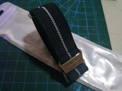 (In Stock)22mm / 21mm Burgan Military Elastic Nylon Strap Band set, fit SKX and any 22mm lug width watch