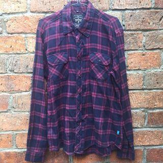 Trackit Maroon/Black Flannel Shirt