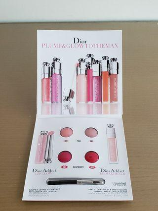 DIOR Lip Glow & Lipmaximizer Sample, 4×0.4g